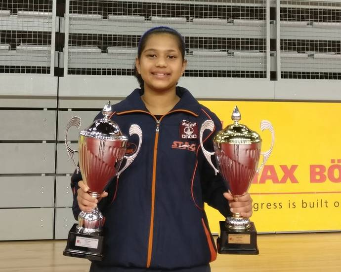 Indian paddler Diya Chitale wins bronze at Croatia Junior and Cadet Open